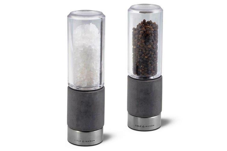 Cole & Mason Salt And Pepper Mills 18cm Regent Concrete
