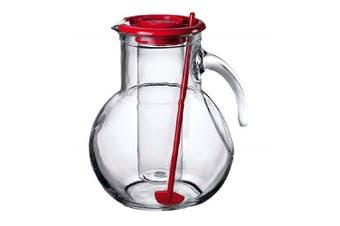 Bormioli Rocco Kufra 2L Glass Water Pitcher + Stirrer + Insert