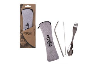 Appetito Eco Traveller's 3 Piece Stainless Steel Cutlery Set