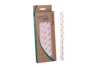 Appetito Paper Straws Pack 50 Flamingoes