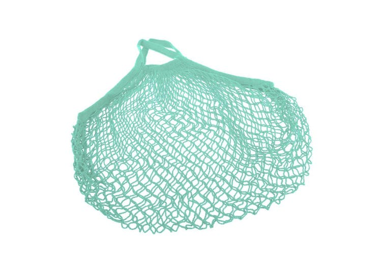 Appetito Cotton String Shopping Bag - Green Short Handle