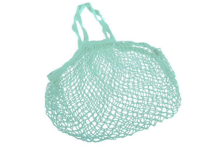 Appetito Cotton String Shopping Bag - Green Long Handles