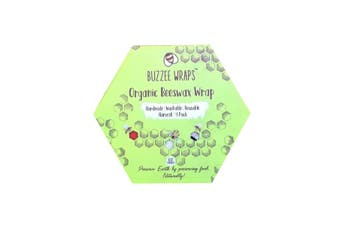 Buzzee Wraps Reusable Beeswax Kitchen Wraps Harvest 4 Pack