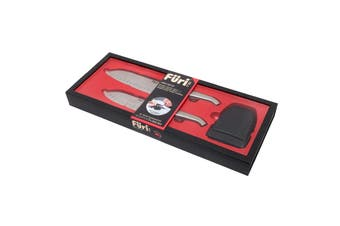 Furi 3 Piece East West Santoku Knife Set With Sharpener