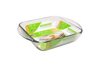 Kitchen Classics Glass Square Baking Dish 2l - 20 X 20cm
