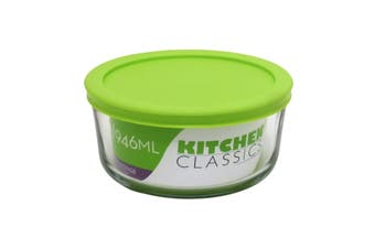 Kitchen Classics Round Glass Dish With Lid - 4 Cup