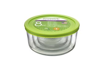 Kitchen Classics Glass Round Containers with Lids - Set of 4