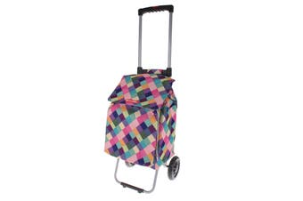 Shop & Go Polo Trolley With Retractable Handle - Harlequin