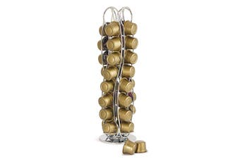 Wiltshire Rotating Caffitaly And Map Coffee Capsule Holder - Holds 32 Capsules