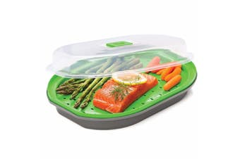Progressive Prep Solutions Microwave Fish and Vegetable Steamer