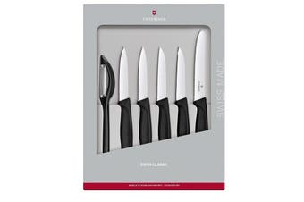 Victorinox 6 Piece Paring Knife Set Black