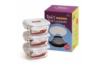 Lock & Lock Euro Glass Baby Food Container Set 3 (160ml)