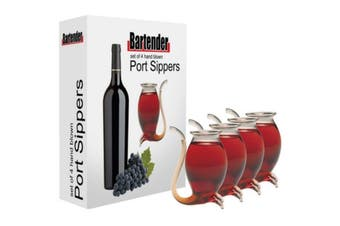 Set Of 4 Hand-Blown Port Sippers