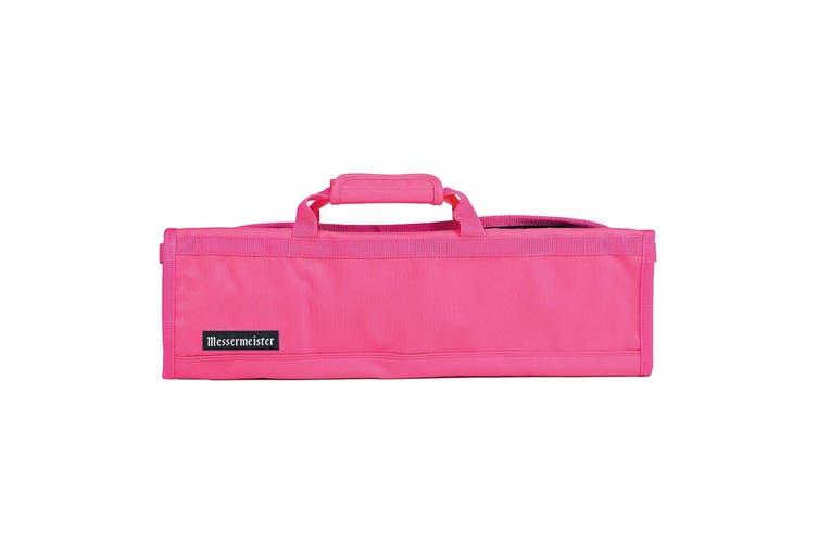 NEW MESSERMEISTER 8 POCKET KNIFE ROLL Case Bag Storage Carry PINK