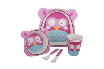 Bambeco Bamboo 5 Piece Kids Meal Set -Owl