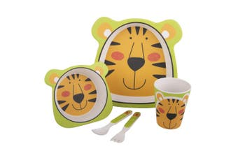 Bambeco Bamboo 5 Piece Kids Meal Set -Tiger