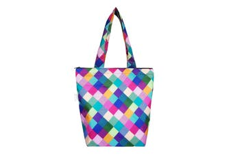Sachi Insulated Folding Market Tote Bag Harlequin
