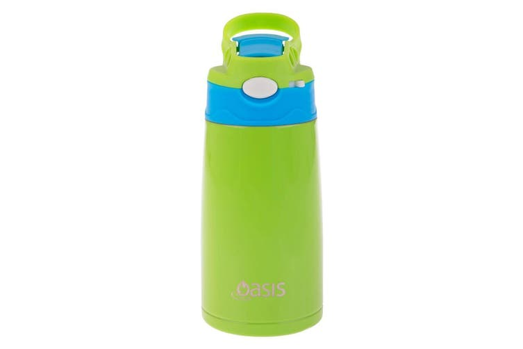 Oasis Kids Insulated Drink Bottle 350ml Green