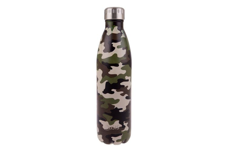 Oasis Drink Bottle 750ml Camo Green