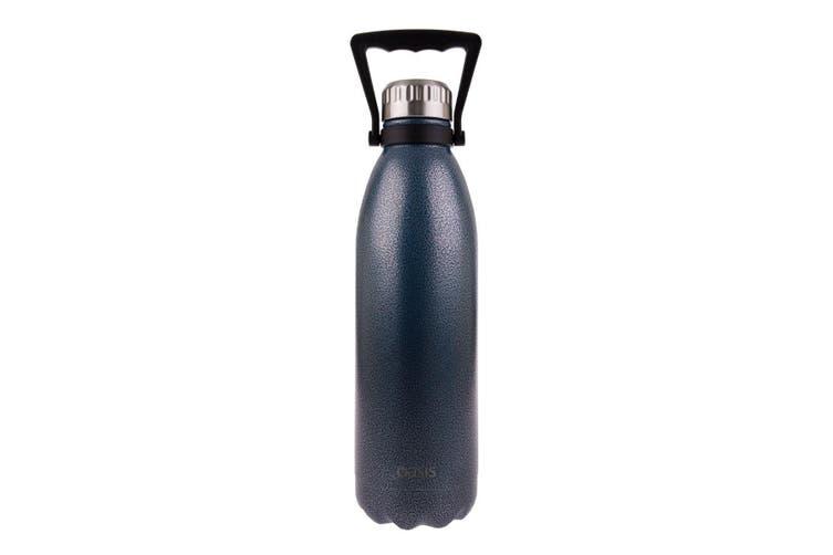 Oasis Drink Bottle With Handle 1.5 Litre Hammertone Blue