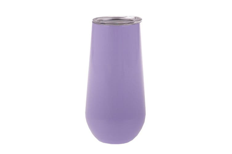 Oasis Insulated Double Wall Champagne Flutes 180ml Lilac
