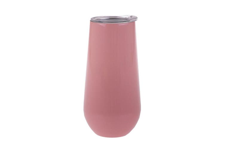 Oasis Insulated Double Wall Champagne Flutes 180ml Soft Pink