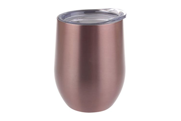 Oasis 330ml Insulated Stainless Steel Wine Tumbler - Pink
