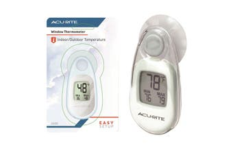 Acurite Indoor Outdoor Window Thermometer with Suction Cup