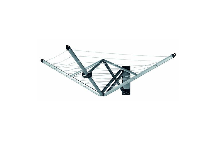 Brabantia Wallfix Rotary Fold Away 24M Clothes Line With Cover