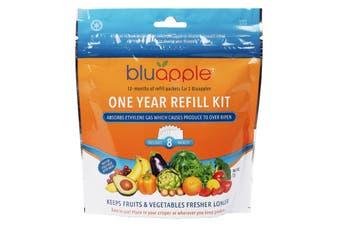 BluApple Classic Fruit & Vegetable Life Extender 1 Year Refill Kit 8 Sachets