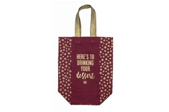 Baileys Cotton Bottle Bag 25 x 10 x 10cm Burgundy