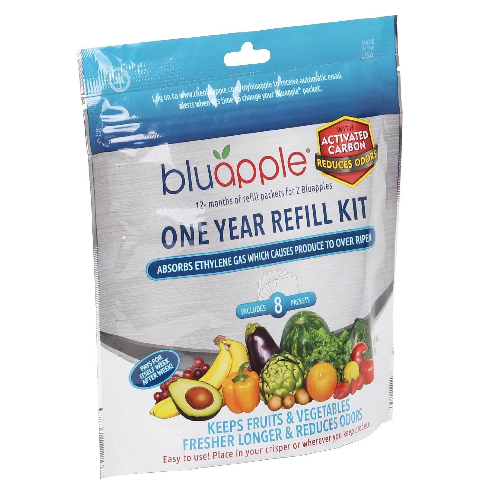 Freshness Extender Bluapple 2-Pack Absorbs Ethylene Gas Keeps Produce Fresher Longer