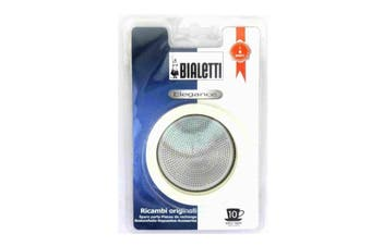 Bialetti Silicone Ring Gasket + Filter Plate For SS Percolator - 10 Cup
