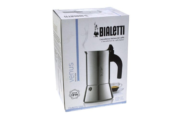 Bialetti Venus 4 Cup Stainless Steel Espresso Maker