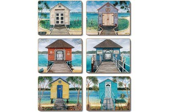 Cinnamon Cork Backed Coasters Set of 6 Boathouses