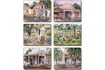Cinnamon Cork Backed Coasters Set of 6 Nostalgia