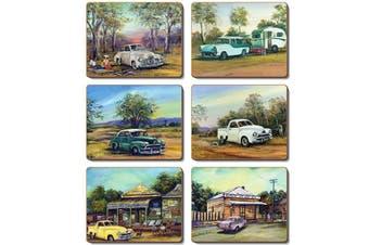 Cinnamon Cork Backed Coasters Set of 6 Old Holdens