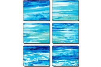 Cinnamon Cork Backed Coasters Set of 6 Ocean Dreaming