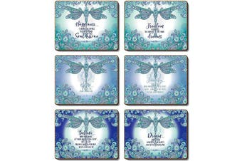 Cinnamon Placemats Cork Backed Set of 6 Dragonfly Dreams