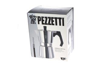 Pezzetti Aluminium Moka Espresso Coffee Maker-3 Cup