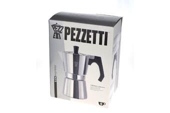 Pezzetti Aluminium Moka Espresso Coffee Maker-6 Cup