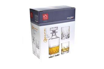 Rcr Opera Crystal Liquor Set - Decanter & Set Of 2 Glasses