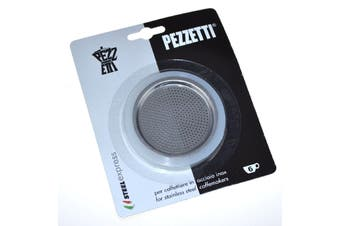 Pezzetti Silicone Ring Gasket + Filter Plate  Stainless Steel Percolator - 6 Cup