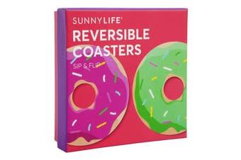 Sunnylife Reversible Coasters Set Of 16 - Donut