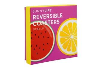 Sunnylife Reversible Coasters Set Of 16 - Fruit Salad
