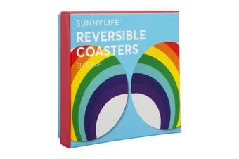 Sunnylife Reversible Coasters Set Of 16 - Rainbow