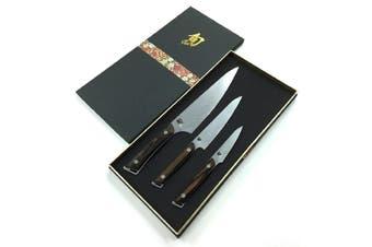 Shun Kanso Chefs 3 Piece Knife Set