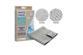 White Magic Eco Cloth Microfibre Stainless Steel 32 x 32cm