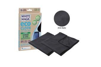 White Magic Eco Cloth Screen and Lens Cloth Pack of 2 30 x 30cm