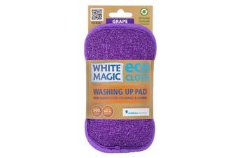 White Magic Microfibre Washing Up Pad Grape